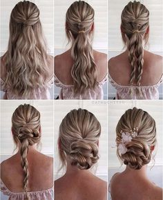 Simple and Pretty DIY Updo Braided Hairstyle Tutorials For Wedding Guest Updo Hairstyles Tutorials, Wedding Hairstyles Tutorial, Braided Hairstyles For Wedding, Cool Hairstyles, Hair Updo Tutorial, Wedding Hair Tutorials, Formal Updo Tutorial, Medium Updo Hairstyles, Braid Hair Tutorials