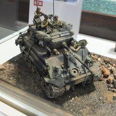 Plastic Model Kits, Plastic Models, Tank Fury, Tilt Shift Photography, Sherman Tank, Model Tanks, Model Hobbies, Military Modelling, Military Diorama