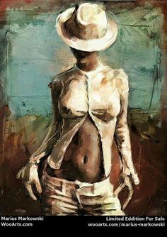 Lady in Hat marius markowski digital painting art sale