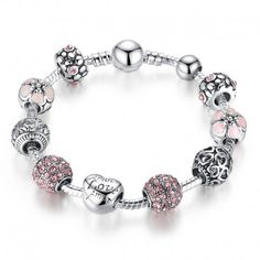 $8.99 Antique Silver Love Charms Compatible with VRC Brand Bracelet