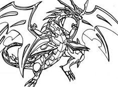 coloriage bakugan drago dessin à imprimer sur coloriages