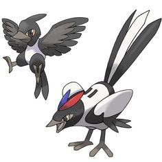 Magpie Pokemon by JoshKH92 ❤ liked on Polyvore featuring pokemon