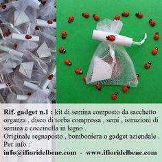 #bomboniere #bomboniera #bombonieraconsemi #gadgetaziendali #kitdisemina #segnaposto #matrimonio #comunione #battesimo #ecofriendly #green
