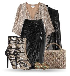 """""""Sequined set"""" by lorika-borika ❤ liked on Polyvore featuring Dsquared2, Velvet by Graham & Spencer, Donna Karan, Betsey Johnson and Carvela"""