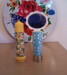 Avon honeysuckle perfume stick. I had forgotten about these. Loved the honeysuckle.
