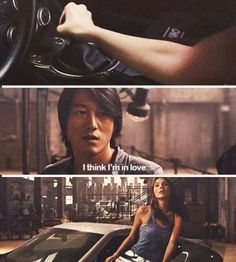 """Creo que estoy enamorado"" (Sung Kang & Gal Gadot) Fast And Furious Cast, The Furious, Gisele Yashar, Series Movies, Movies And Tv Shows, Dom And Letty, Sung Kang, Dominic Toretto, Fast Five"