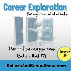 On the Dollars and Sense Show Carol Topp discusses career exploration. How Can You Know God's Will at Age 17? Listen in at http://ultimateradioshow.com/career-exploration-part-1-how-can-you-know-gods-will-at-17/