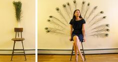 The peacock chair integrates modern technology sensors into an antique chair to create a mystical, interactive, playful throne where peacock feathers majestically open to frame the individual sitting upon it