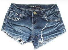 ZCO Jeans Designer Premium Distressed Jean Shorts, Juniors size 0, Shorts #ZCOJeansDesignerPremium #Denim