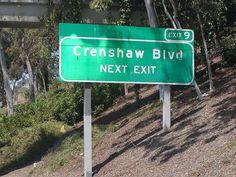 Crenshaw Blvd Street Sign