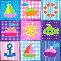 Patrones Patchwork Gratis: barco