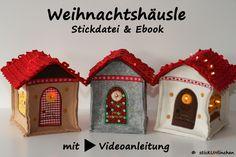 Stickdateien - Weihnachtshäusle Stickdatei & Ebook Weihnac... - ein Designerstück von sticKUHlinchen bei DaWanda