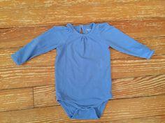 Cherokee 12 months blue long sleeve onesie