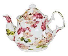 Teiera in ceramica bone china rose - 21x16x15 cm