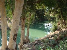 Jordan River where Jesus was baptized