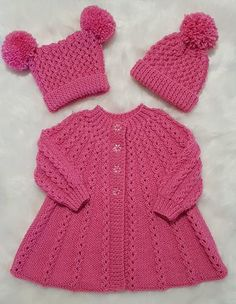 Knitted Coat Pattern, Knit Cardigan Pattern, Knitted Baby Cardigan, Baby Scarf, Christmas Knitting Patterns, Baby Knitting Patterns, Coat Patterns, Clothing Patterns, Girls Knitted Dress