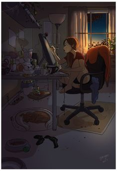 Illustrations That Capture The Joy Of Living Alone As An - Gorgeous Illustrations That Perfectly Capture The Joy Of Living Alone As An Introvert By Jenn Granneman If Youve Ever Had The Opportunity To Live Alone You Know Just How Glorious It Can Be Art And Illustration, Illustrations, Joy Of Living, Living Alone, Alone Art, Art Mignon, Artist Life, Introvert, Cartoon Art