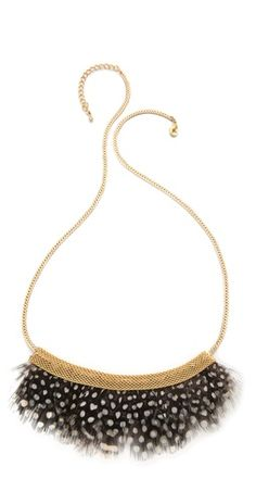 serefina Feather Bib Necklace |SHOPBOP | Save up to 25% Use Code BIGEVENT13
