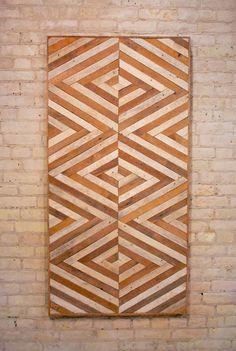 Reclaimed Wood Wall Art Lath DecorPattern 3D by EleventyOneStudio