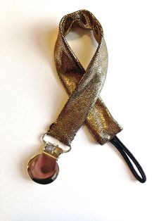 Metallic Gold Pacifier Clip / MAM Clip / by CharleyCharlesShop