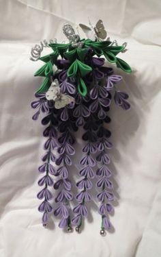Purple wisteria kanzashi