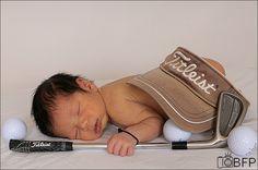 Golf Newborn Photo
