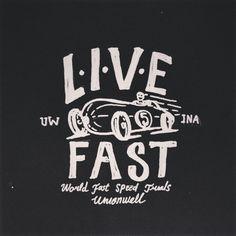 Instagram media by deckysastra - LIVE-FAST #handlettering#lettering#handmade#typo#typography#handmade
