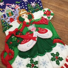 """★★★★★ """"I purchased three stockings and every one of them are perfect. The faces are exceptional and communication was awesome. Will definitely buy from Angela again. Days To Christmas, Christmas Train, Christmas Countdown, Felt Advent Calendar, Winter Princess, Felt Stocking, Tooth Fairy Pillow, Felt Hearts, Halloween"""