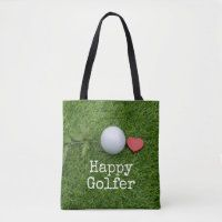 Golf bags of love totes bags - Thaninee Media Golf Travel Case, Cute Golf Outfit, Golf Gifts For Men, Green Throw Pillows, Golf Fashion, Green Bag, Golf Ball, Reusable Tote Bags, Totes