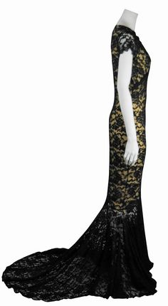 19960dea92 Baylis   Knight Black Nude Lace Wrap Fishtail Train Wedding Dress Maxi Long  Gown Princess Kate Middleton Short Sleeve Dita Burlesque