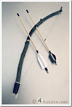 how to make a homemade bow and arrow