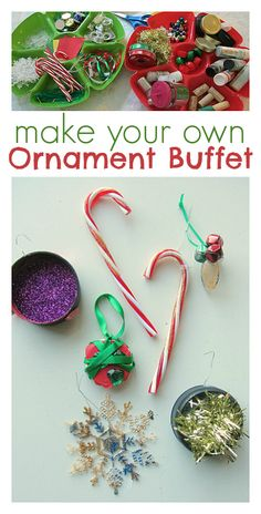 Give them the supplies and let then create Christmas ornaments. Would be fun for a kids Christmas party.