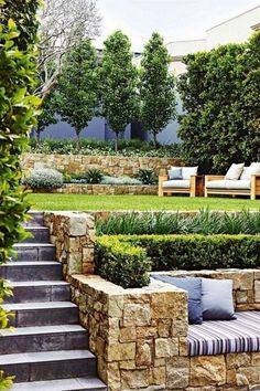 Worth trying 10 Tropical Backyard Garden Ideas for you. It is a good time and here are some of the nicest Tropical Backyard Garden Ideas that you can use to Lift Your Outdoor decor and Exterior Improv Terraced Landscaping, Small Backyard Landscaping, Landscaping Ideas, Backyard Ideas, Patio Ideas, Garden Ideas, Terraced Backyard, Small Backyard Patio, Modern Landscaping