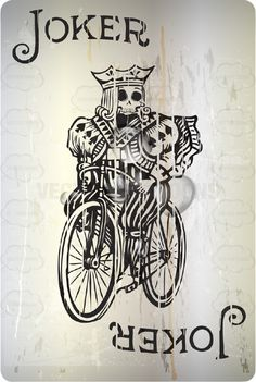Joker With Skull Face: Bicycle