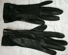 Vintage St Michael Leather & Fabric Gloves