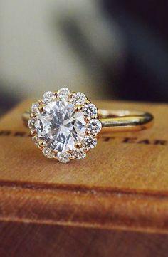 Lotus Flower Diamond Ring