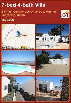 7-bed 4-bath Villa in 2 Villas, Camino Los Oliverdos, Macher, Lanzarote, Spain ►€675,000 #PropertyForSaleInSpain