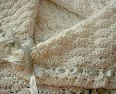 White Shell Baby Blanket