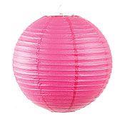 Hot Pink 12 Inch Round Lantern