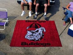 Georgia UGA Bulldogs Dawg Head 5X6ft Indoor/Outdoor Tailgate Area Rug/Mat/Carpet