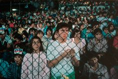 David Alan Harvey. CHILE. 1987. Anti-Pinochet demonstration. David Alan Harvey, Shooting Range, Magnum Photos, National Geographic, Chile, American, People, Photography, Photograph