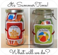 Its Written on the Wall: SummerTime Activity Jar for the Kids-Summer Just Became MORE FUN (and organized)