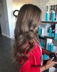 Darker for summer? Love me some cool brown tones . . . #lasvegas #lasvegashairstylist #lasvegashair #lasvegascolorist #btc #behindthechair #americansalon #modernsalon #blondor #redken #wella #hairtransformation #colormelt #ombre #balayage #blonde #babylights