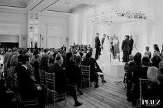 Stephanie + Eric Ballroom Wedding Ceremony | Perez Photography via Carats & Cake