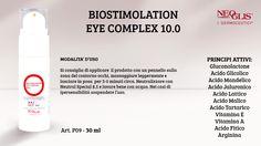 Oggi parliamo di #ContornoOcchi! Vi presentiamo allora il #BIOSTIMOLATIONEYECOMPLEX 10.0, un gel fluido biostimolante nel trattamento cosmetico della PELLE del CONTORNO OCCHI con AHAs, PHA!
