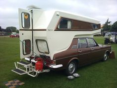How cool is this Ginetta Car Camper?! It is built off a 1970s' Ford Zodiac. Apparently this is the only Ginetta ever made!   www.diyrv.co #vintagerv