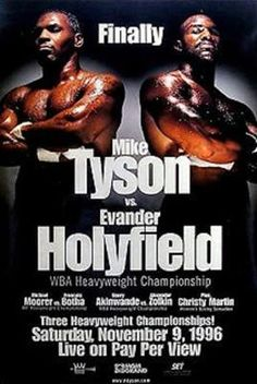 Mike Tyson vs Evander Holyfield I original on site fight poster. Measures 24 X 36 in fantastic condition.