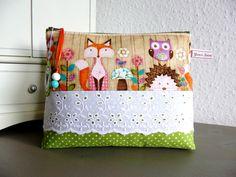 Schminktäschchen - ♥ Kosmetiktasche / Täschchen ♥ Waldtiere - ein Designerstück von Your-Sweet-Dreams bei DaWanda