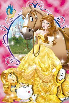 Beauty & the Beast Disney Princess Belle, Princesa Disney Bella, Disney Princess Pictures, Disney Princesses And Princes, Walt Disney Pictures, Disney Cartoon Characters, Disney Cartoons, Cute Disney, Disney Art