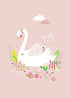 the letter b pink swan princess print 2 backdrops 25156